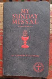英文原版天主教书籍2册:Following the Mass(1940年版)、My Sunday Missal(1938年版)