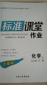 全新正版2019版全新升级标准课堂作业化学RJ  九年级全一册河南人民出版社