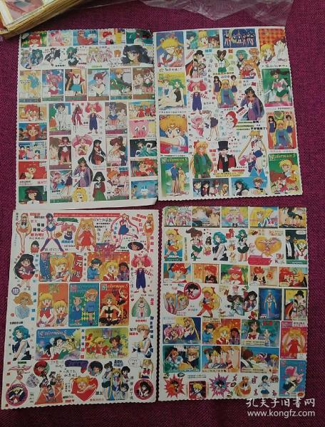 美少女戰士貼紙31張(大小不一樣如圖)
