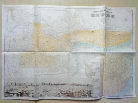 """日本昭和七年(1932)  《最新上海地图》,地图右下角有中国中南部略图,其左侧是""""南京地图"""",左下角有民国时期的上海滩老照片,左上角是""""上海吴淞略图"""",品相不错,自鉴,实物图片。收藏上海里弄地图袖珍上海新地图上海里街分区精图袖珍上海分图上海分区地图民国上海地图杭州全图实用上海地图的朋友可以看看"""