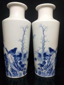 青花瓶一对,.年龄大了留着没用了低价出..,.标价最低..