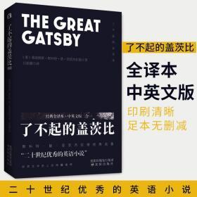 正版 了不起的盖茨比 FS菲兹杰拉德著 经典全译本中英文版二合一 世界文学名著 2020全新译本珍藏版入选BBC伟大的100部TLS