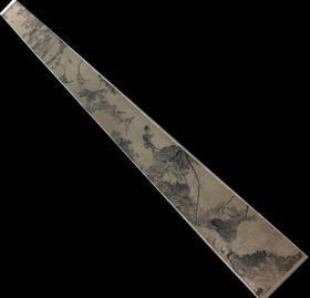 八大山人风格-《佚名墨荷游鱼卷》