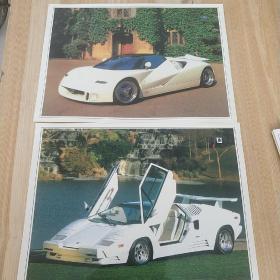 早期汽车卡片(共11张)+(7张早期彩色相片)