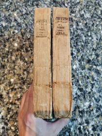《Coelebs in Search of a Wife》1809年 英国原版三头毛边手工纸锁线 印刷装帧完全保存200多年前的样子 古董书极其稀少 私藏干净自然旧 前所有者1809年签名 全2册
