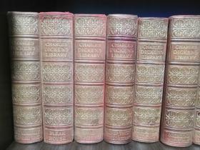 1910年查尔斯·狄更斯百年诞辰豪华精装纪念版  Charles Dickens Library(英文原版,真皮-布面精装,书顶刷金,整套书中有1200幅精美插图,包括500幅单页版画插图 )