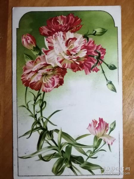 实寄给民国才女曾任孙中山英文秘书的吴弱男的1908年珍贵明信片。贴1分伦敦版蟠龙邮票。非常稀有!
