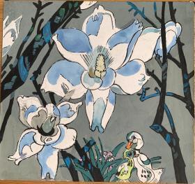 七十年代丑小鸭插图手绘原稿3幅