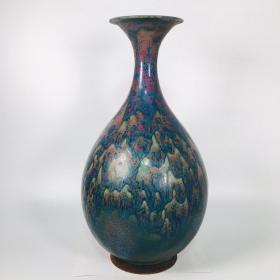 钧瓷窑变釉玉壶春瓶。尺寸如图