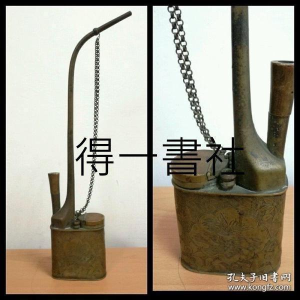 清末民初 老水烟壶 花鸟纹刻