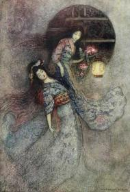 Green Willow and Other Japanese Fairy Tales  《青柳:日本童话集》名家Warwick Goble经典绘本 彩色插图 品相上佳