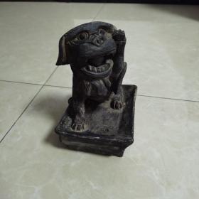 手工砖雕(发财狮)