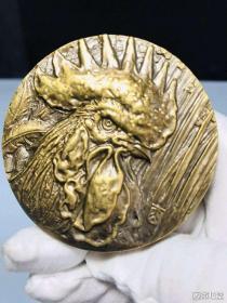 十二生肖鸡铜章