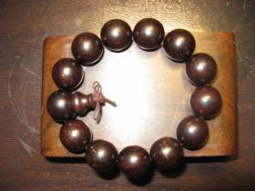 紫檀手串,老料带金星(1.8)