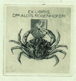 奥地利铜版雕刻大师--考斯曼藏书票原作5