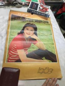 挂历 1983年美女挂历 13张全