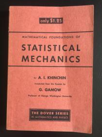 mathematical foundations of statistical mechanics   英文原版