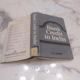BANK CREDIT IN INDIA 印度的银行信贷    精装本