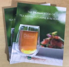 英文美食菜谱  茶 THE DILMAH BOOK OF TEA INSPIRED CUISINE BEVERAGE【迪尔玛之书】启发了美食和饮料的灵感    精装本加厚372页