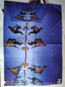 海报 体育世界灌篮怀旧海报珍藏系列2【迈克尔.乔丹/肯扬.马丁】