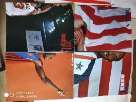 篮球明星海报 双面海报4K(梦之队经典怀旧1、2、3、6)