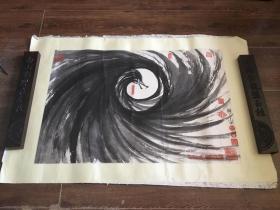 当代艺术家,策展人,多元立体书法创始人。(麻进 )作品 诞生 68cm x 52cm