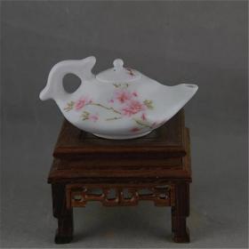 陶瓷研究所1975年中南海珍品 茶壶 景德镇1962落款瓷厂仓库老货
