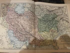 1895年波斯地圖