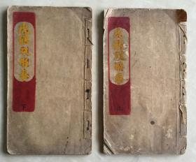 虎鶴雙形拳  民國毛筆寫本  稀見拳譜武術文獻  2冊全