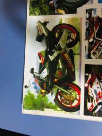 貼紙四 摩托車白邊大版貼紙 大小參照旁邊銀行卡 左下角有痕跡