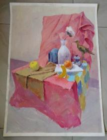 国画油画原画1张(76x53cm)