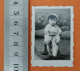 【老照片】(43686)骑木马的小宝贝