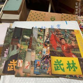 武林杂志1982年6 9 12三本 1983年1 2 7三本 1984年2 3 5三本 中华武术 一本武术健身一本柔道与摔跤一本 (总共12)合售