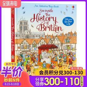 Usborne看里面系列 英国历史 See Inside History of Britain科普立体机关翻翻书 儿童启蒙早教认知 科普读物纸板书 含60个小机关