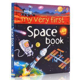 进口英文原版绘本 Usborne my very first Space book 精装纸板大开 儿童科普图画书 太空 学生课外英语阅读