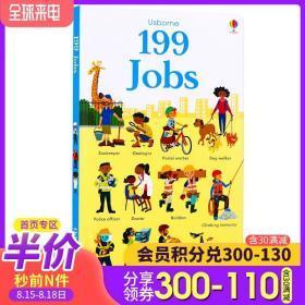 Usborne出品 199 Jobs 199种工作(199张图片) 英文原版绘本 儿童启蒙图书纸板书 工作认知 亲子互动启蒙早教认知图画书