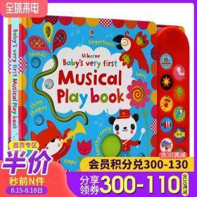 英文原版绘本Baby'S Very First Touchy Feely Musical Play Book纸板触摸发声书 翻翻书 Usborne出品