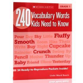Scholastic学乐练习册3册合售英文原版240Vocabulary Words Kids Need to Know Grade 1-3 一二三年级孩子需要知道的240个单词词汇