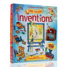 进口英文原版绘本 See Inside Inventions 大开 纸板翻翻书 偷偷看里面 发明 科普立体书 Usborne 出品