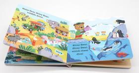 进口英文原版绘本 Bizzy Bear Zoo Ranger 小熊很忙系列 忙碌的小熊忙着当动物园管理 机关操作纸板游戏书 动物管理员