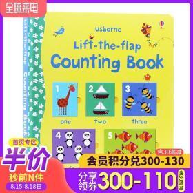 Usborne出品 数字计数书 Lift-The-Flap Counting Book 0-3岁翻翻书 英文原版 儿童英语单词幼儿早教英语启蒙绘本