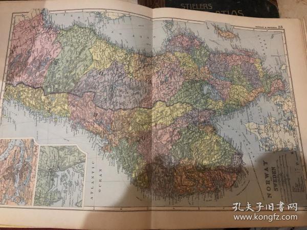 1895年挪威瑞典地圖