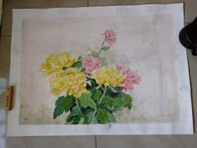 国画原画水粉画一幅(75x55cm)