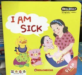 纸板翻翻书 i am sick 我生病了