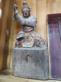 清代木雕神像