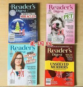 美国版 READER'S DIGEST 读者文摘2020年1+2+3+4月 4本打包 英文生活类杂志