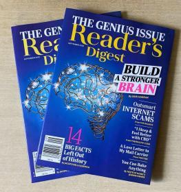 美国版 READER'S DIGEST 读者文摘2020年9月 英文生活类杂志