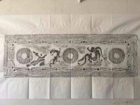 汉石画像拓片玉璧呈祥图