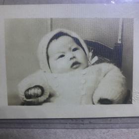 G 民国时期老照片 美伦照相馆 婴儿留念照