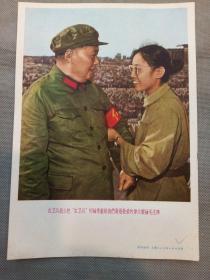 宣传画:红卫兵战士把红卫兵的袖章献给我们最最敬爱的伟大领袖毛主席( 上海人民美术出版社)